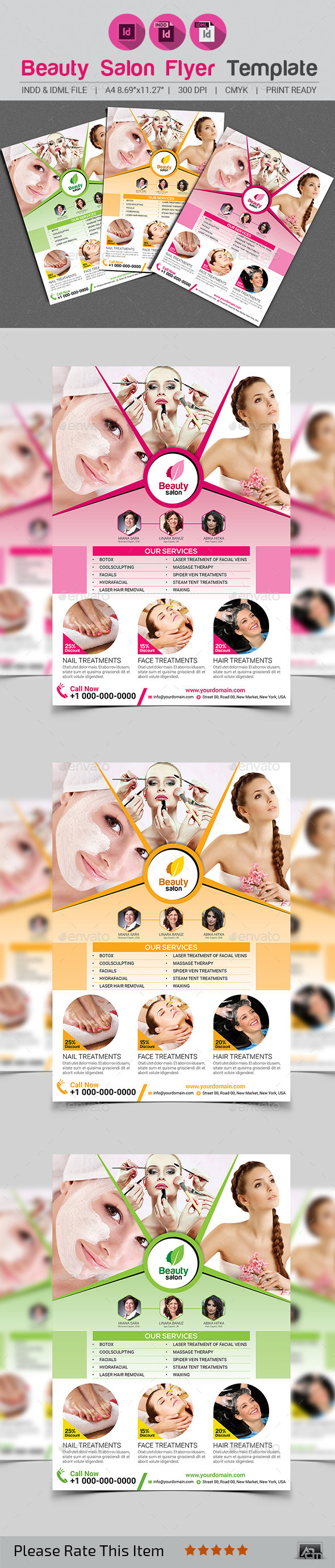 GraphicRiver Beauty Salon Flyer Template 11895737