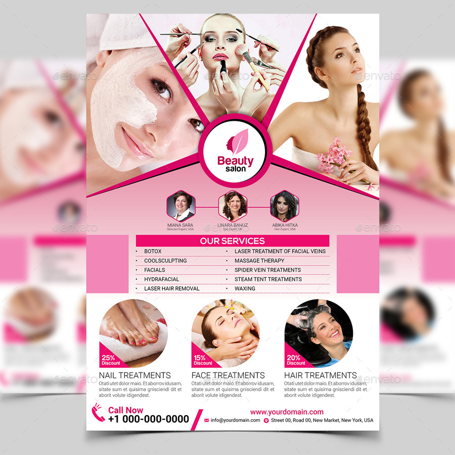 Beauty salon flyer template by aam360 graphicriver for A 1 beauty salon