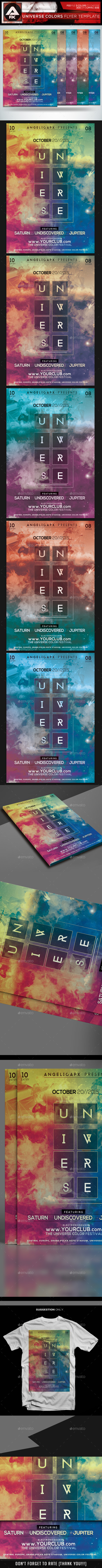 GraphicRiver Universe Colors Flyer Template 11895790