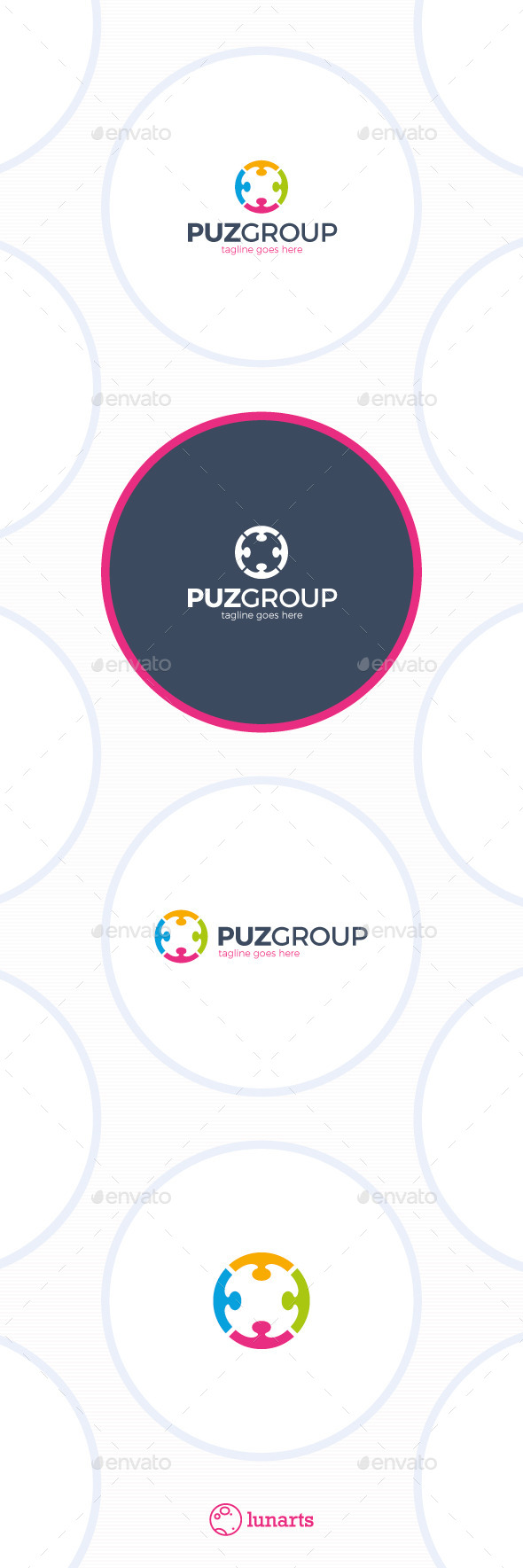 GraphicRiver Puzzle Community Logo Group Circle 11895792
