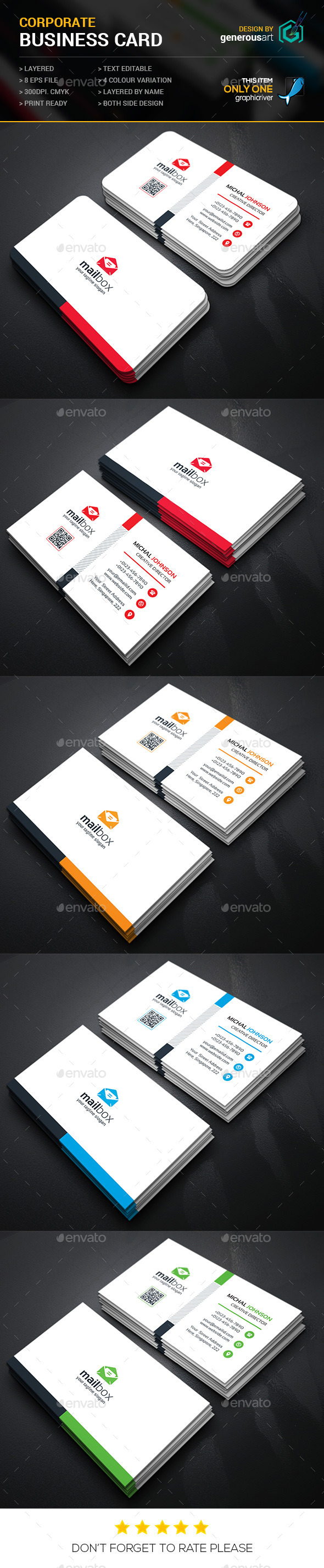 GraphicRiver Mail Box Corporate Business Cards 11895822