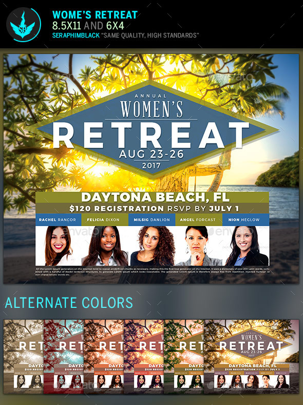 GraphicRiver Women s Retreat Flyer Template 11896199