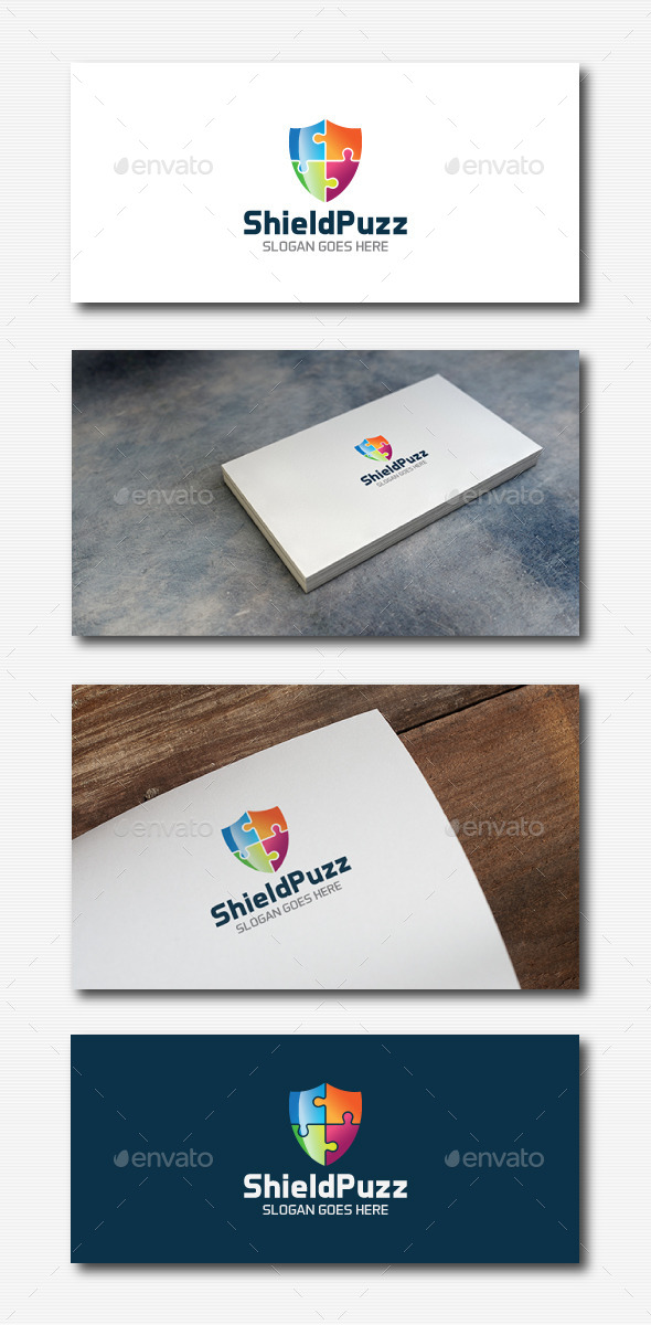 GraphicRiver Shield Puzzle Logo 11896380