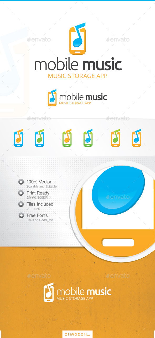 GraphicRiver Mobile Music Logo 11896576