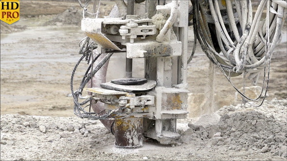 An Equipment Drilling the Ground