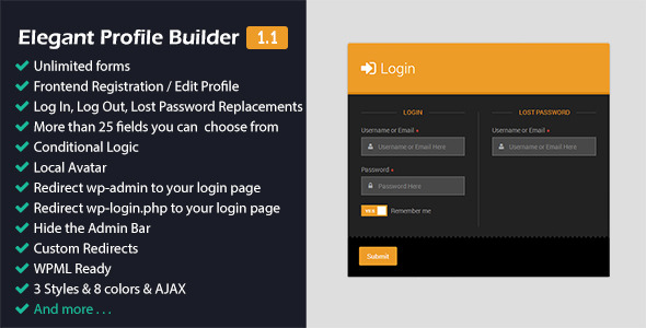 CodeCanyon Elegant Profile Builder 11875348