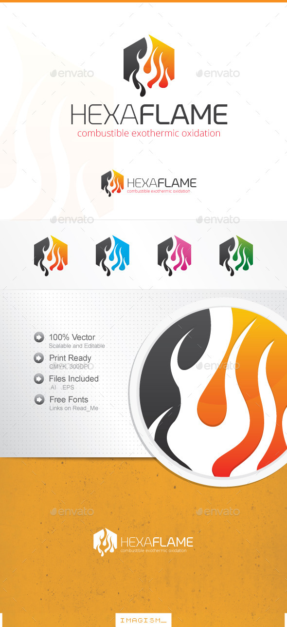 GraphicRiver Hexa Flame Logo 11896777