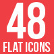 48 vector flat icons