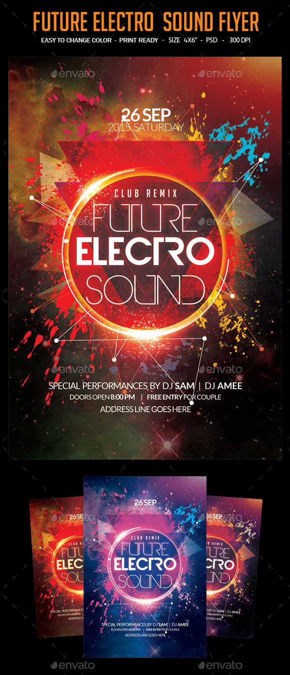 GraphicRiver Future Electro Sound Flyer 11897149