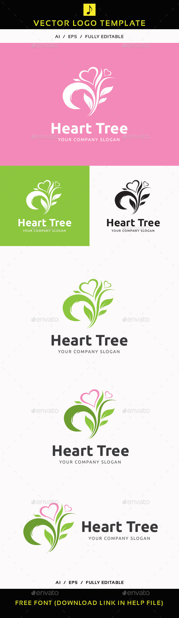 GraphicRiver Heart Tree 11897234