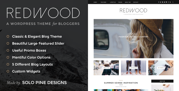 ThemeForest Redwood A Responsive WordPress Blog Theme 11811123