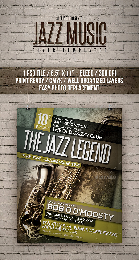 GraphicRiver Jazz Music Flyer Templates 11898720