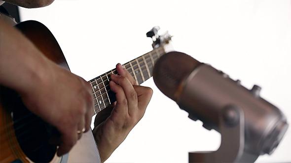 VideoHive Recording Acoustic Guitar in Studio 13 11899063