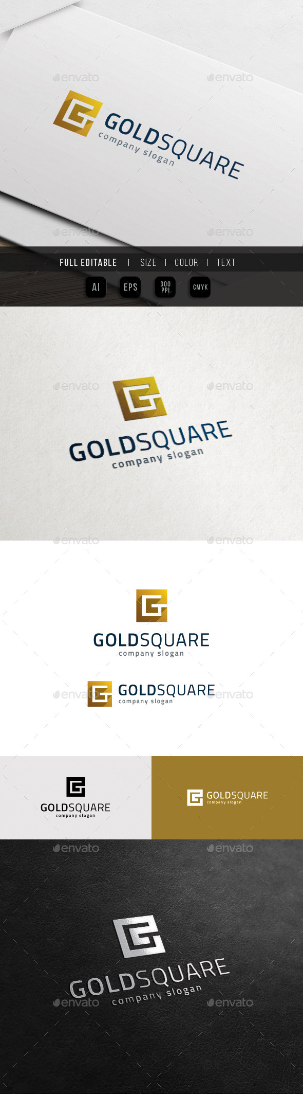 GraphicRiver G Logo Golden Square Group 11899102