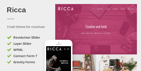 Download Ricca - A Fresh Responsive Theme For Creatives nulled download