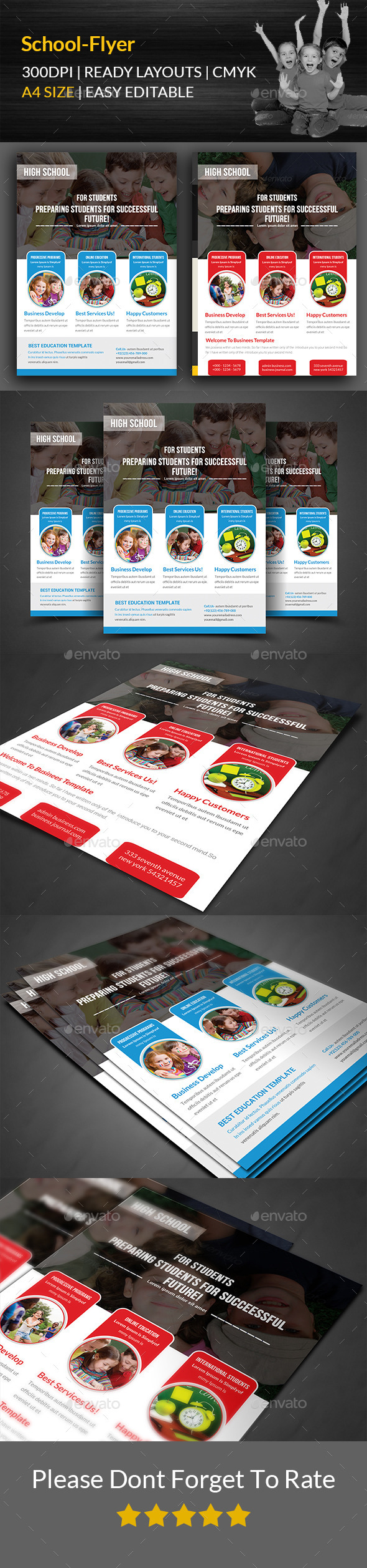 GraphicRiver Education Flyer Print Templates 11899245