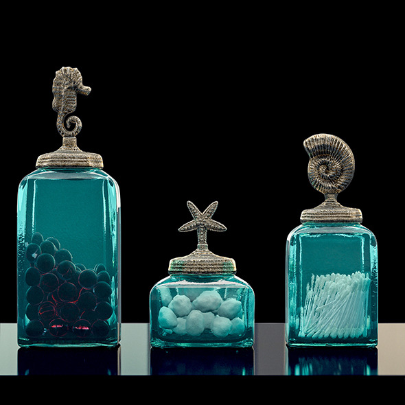 Bathroom Ocean Canisters Set - 3DOcean Item for Sale