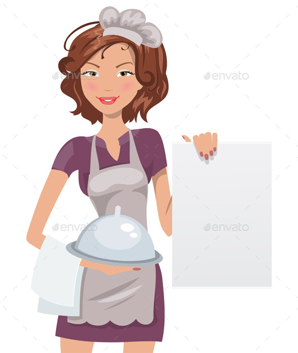 GraphicRiver Female Chef With Menu 11899392