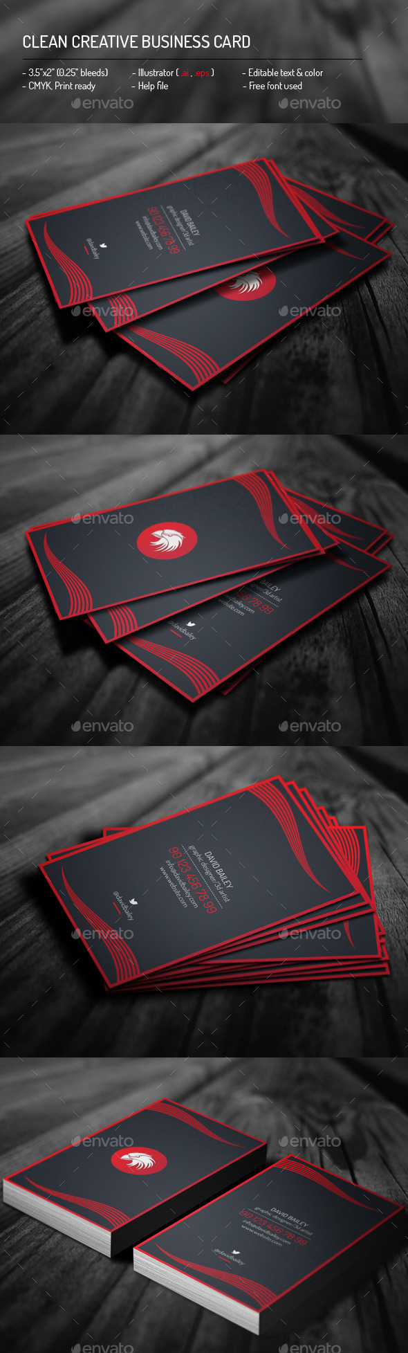 GraphicRiver Clean Creative Business Card 11899405