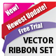 Vector Ribbon set - GraphicRiver Item for Sale