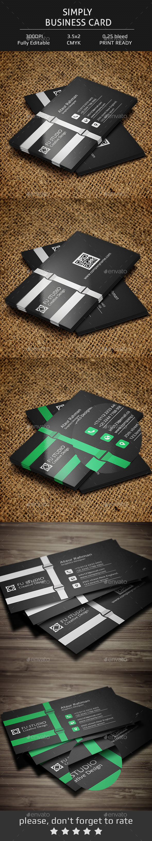 GraphicRiver Simply Business Card V4 11902143
