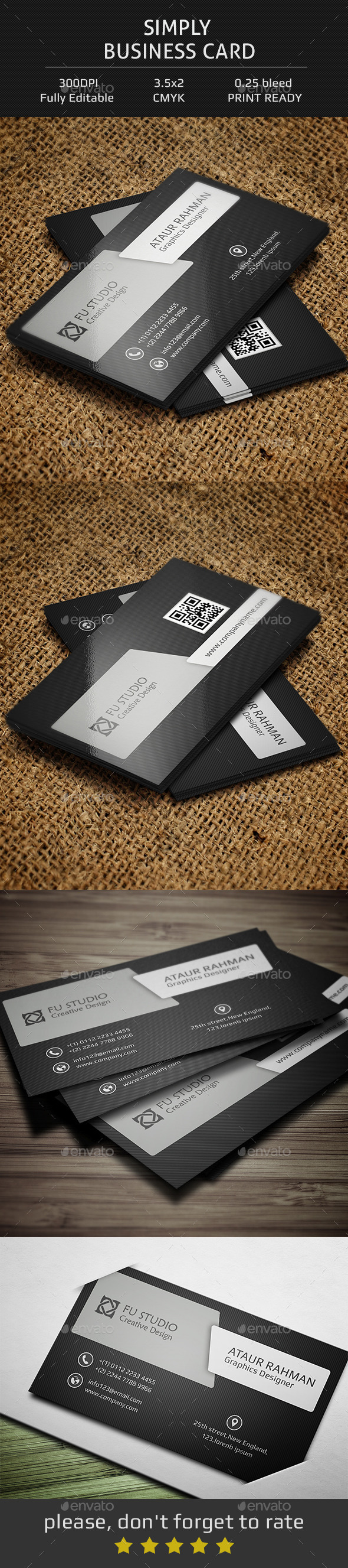 GraphicRiver Simply Business Card 11902214