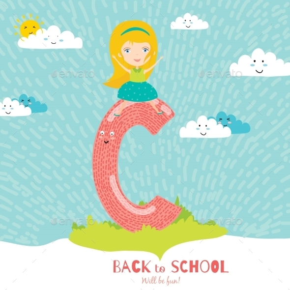 GraphicRiver Back To School Notes With Smiling Happy Kids 11902373