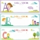 Back To School Notes With  Smiling Happy Kids - GraphicRiver Item for Sale