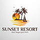 Sunset Resort Logo Template - GraphicRiver Item for Sale