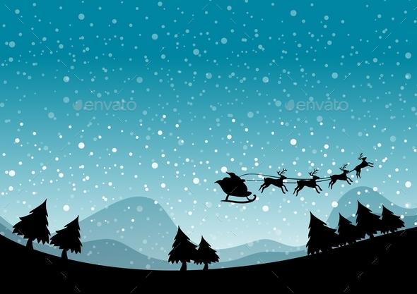 GraphicRiver Silhouette Christmas 11902485