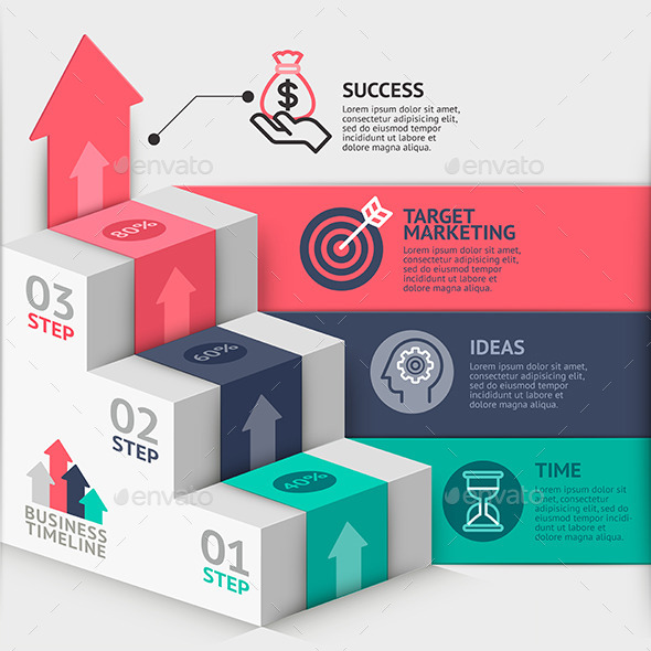 GraphicRiver Business Staircase Diagram Template 11902496