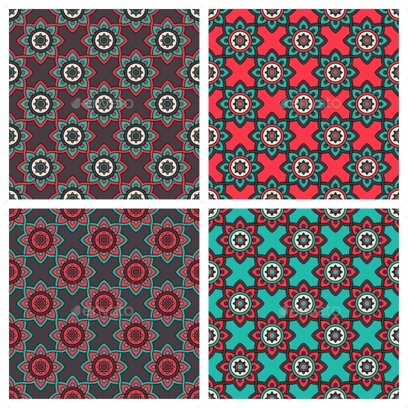 GraphicRiver Abstract Patterns With Ethnic Ornament 11902585
