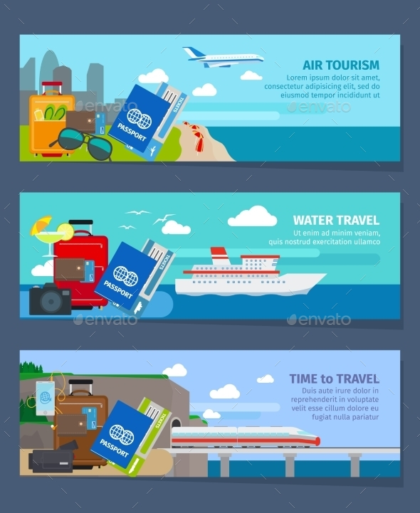 GraphicRiver Travel Banners Set 11902664
