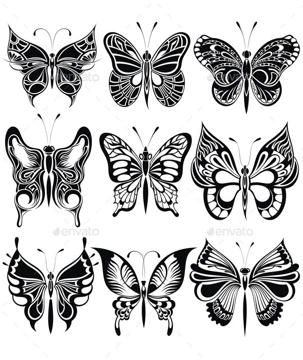 GraphicRiver Butterfly Set 11902934
