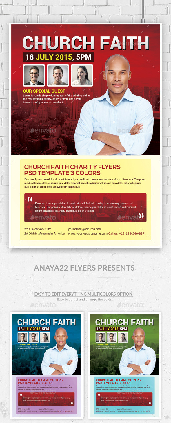 GraphicRiver Church Flyer Psd Template 11903330