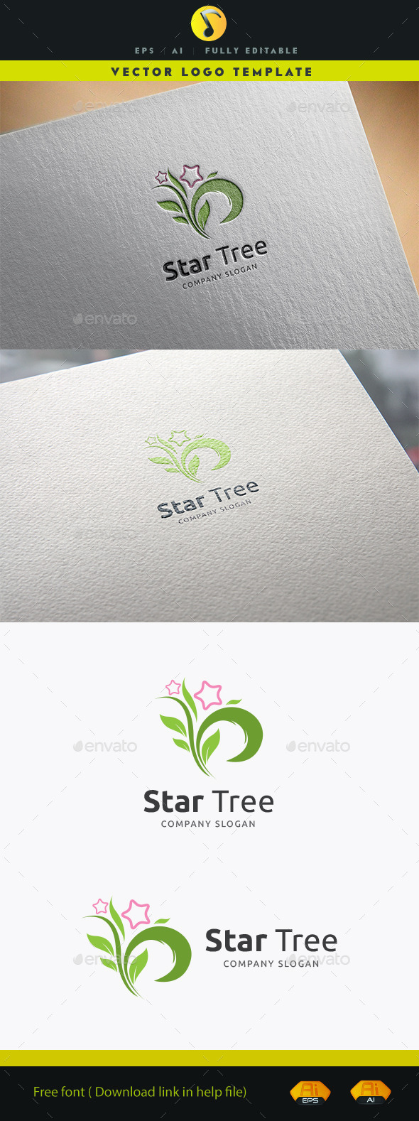 GraphicRiver Star Tree 11903332