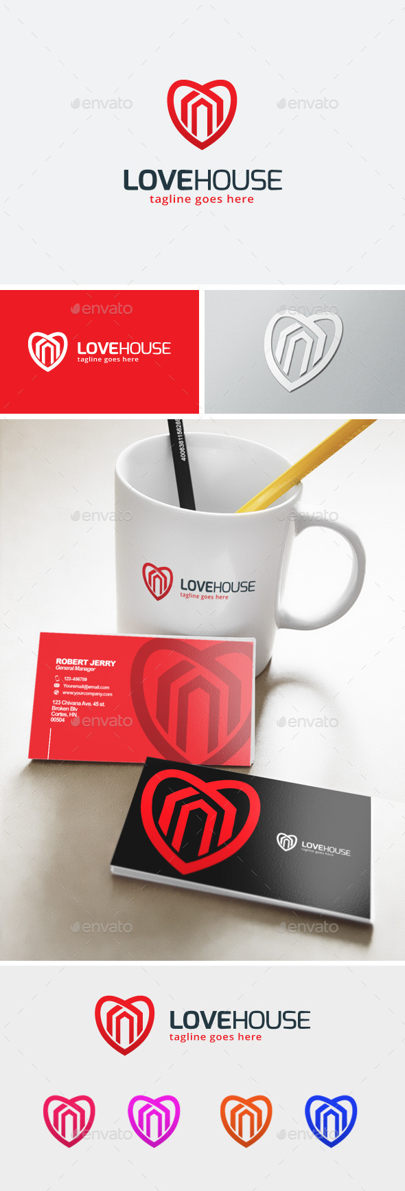 GraphicRiver Love House Logo 11903394