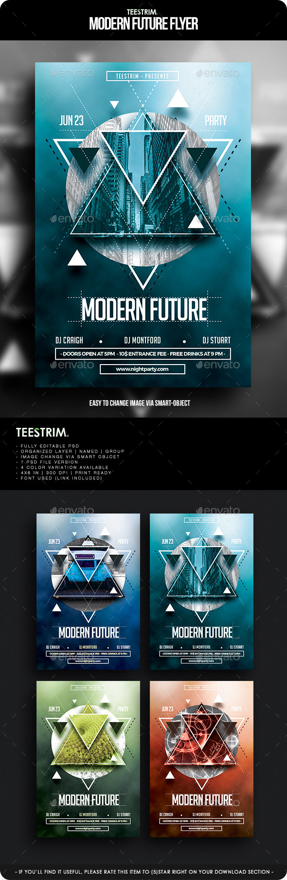 GraphicRiver Modern Future Flyer Template 11903550
