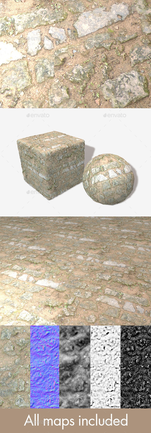 Castle Floor Ruins Seamless Texture - 3DOcean Item for Sale