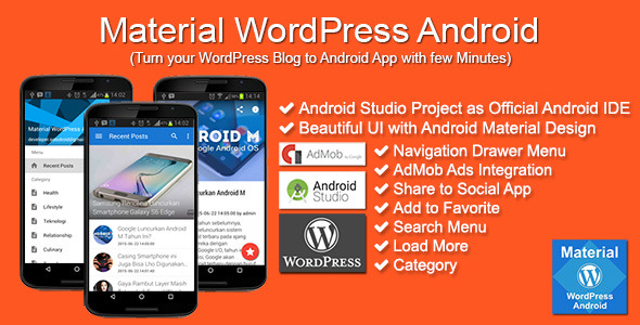 CodeCanyon Material WordPress Android 11903700