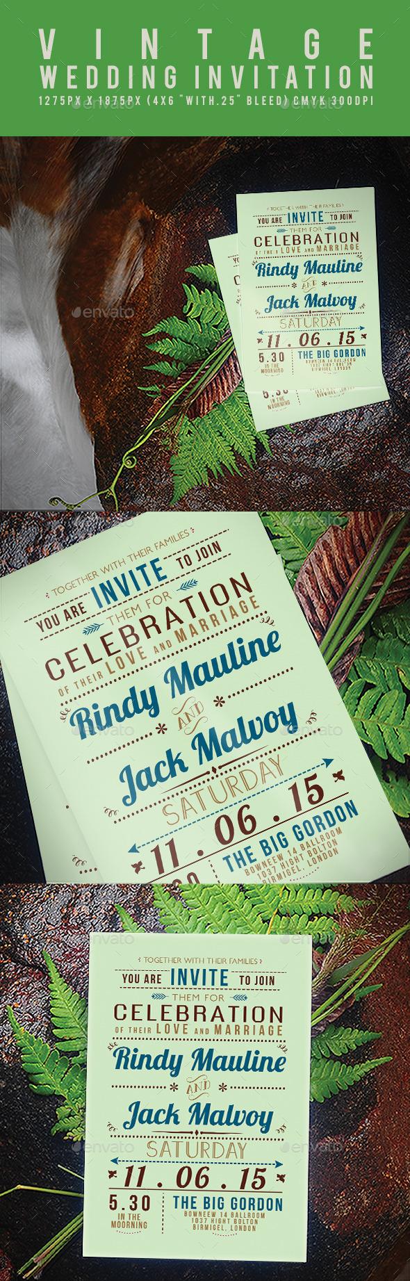 GraphicRiver Vintage Wedding Invitation 11903841