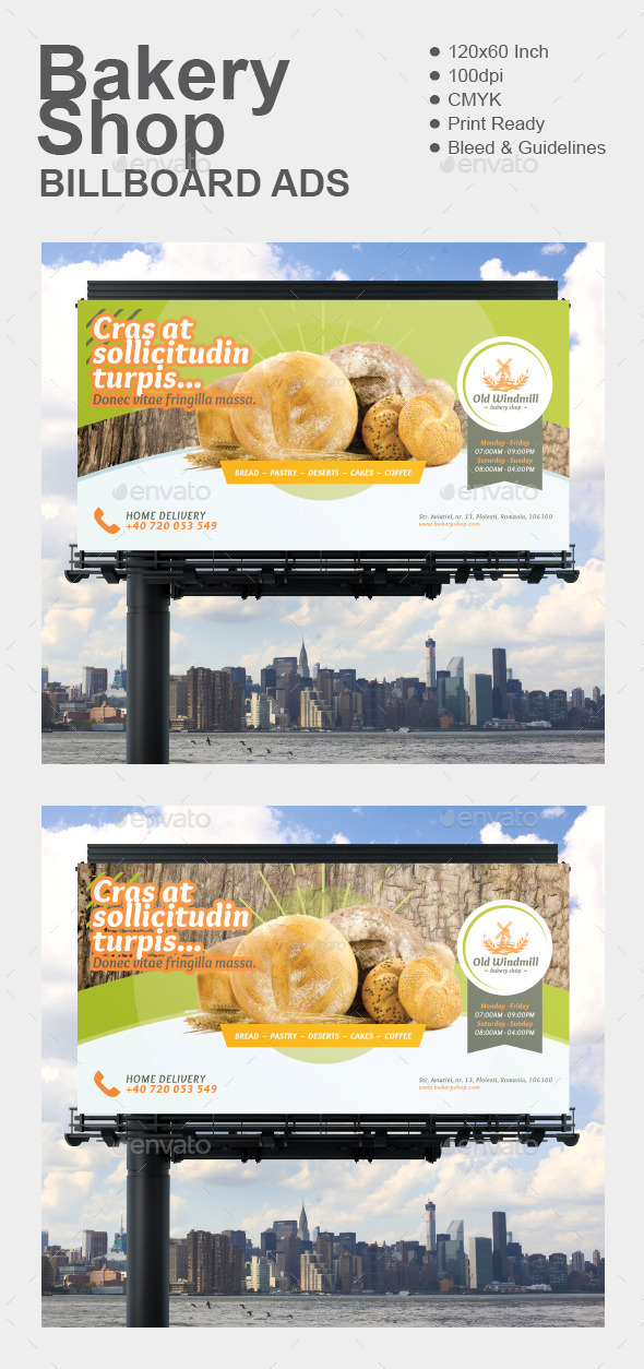 GraphicRiver Bakery Shop Billboard 11891607
