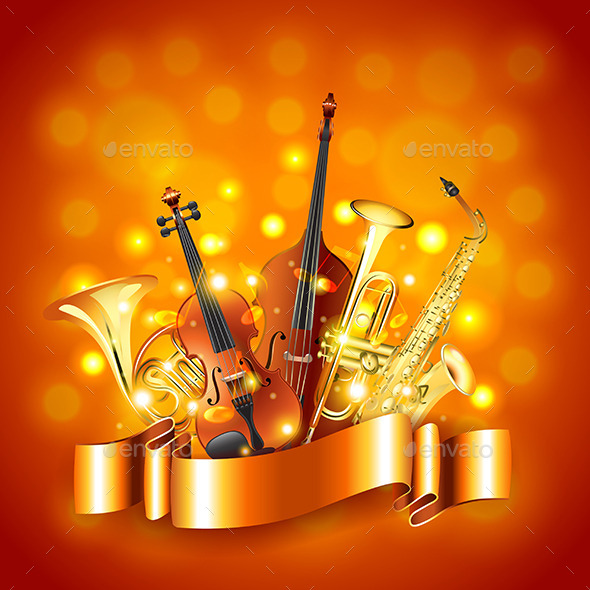 GraphicRiver Musical Instruments Vector Background 11904020