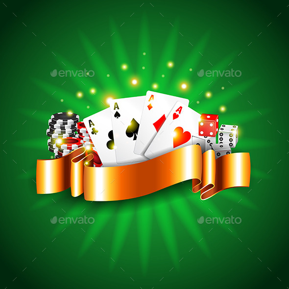 GraphicRiver Luxury Casino Background with Cards Vector 11904021