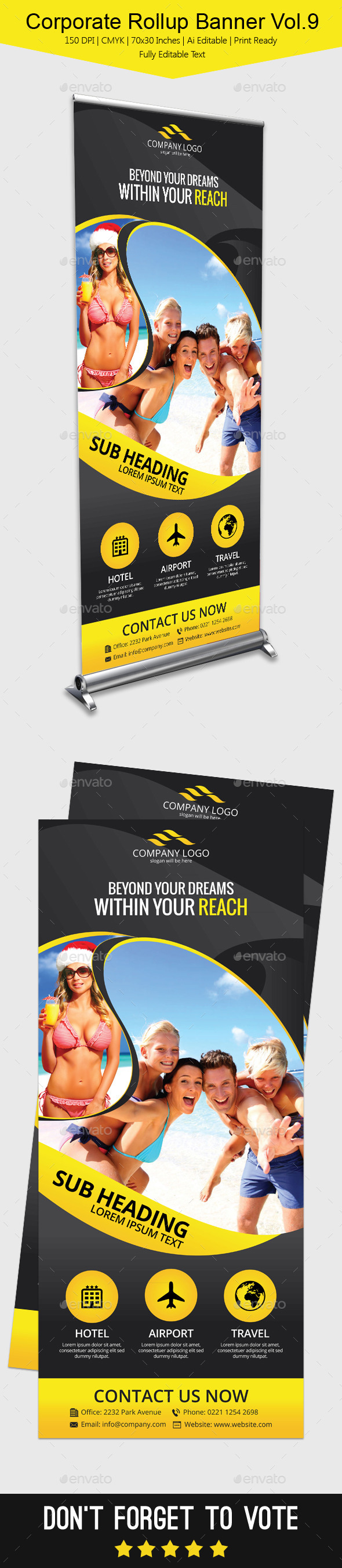 GraphicRiver Corporate Rollup Banner Vol.9 11904030