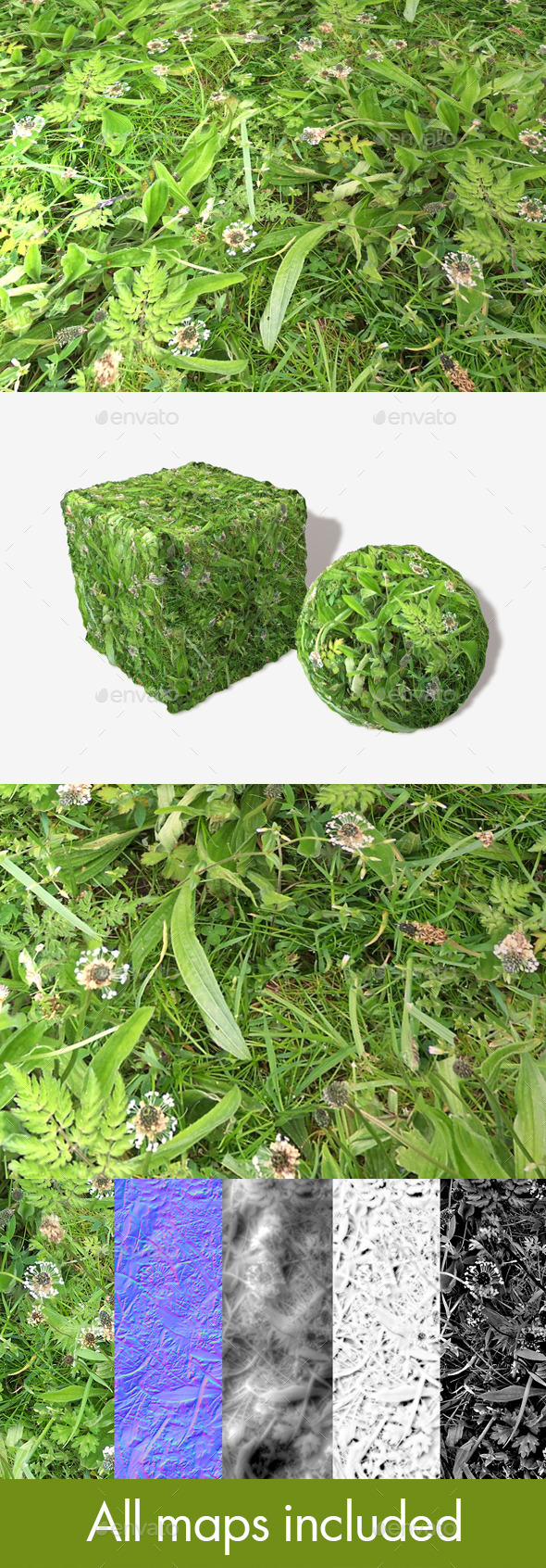 Riverbank Weeds Seamless Texture
