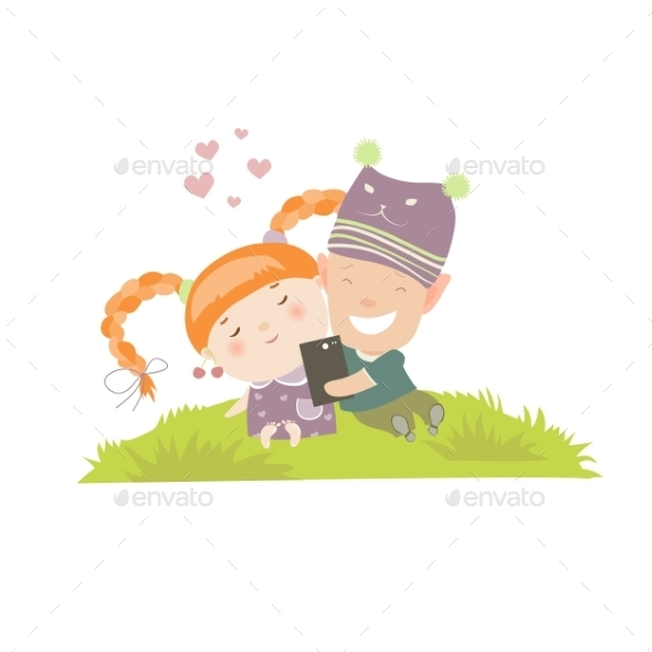 GraphicRiver Young Couple Making Self-portrait 11904053