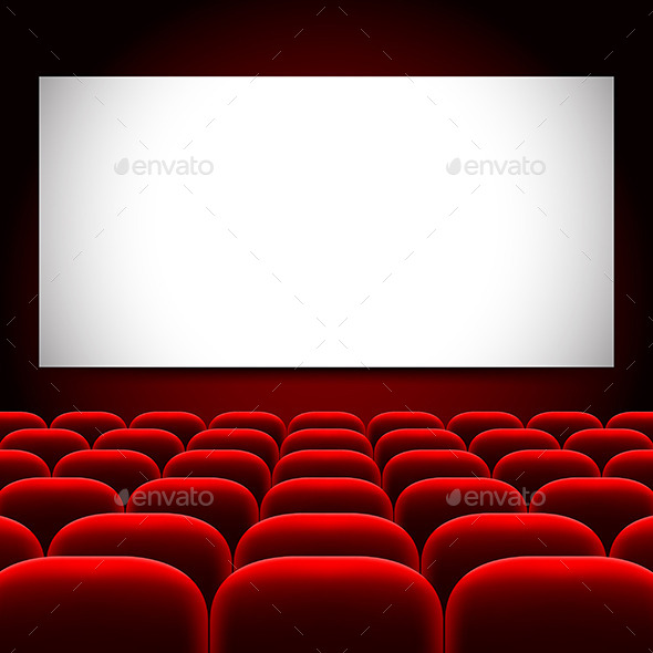 GraphicRiver Cinema Screen and Red Seats Vector Background 11904089