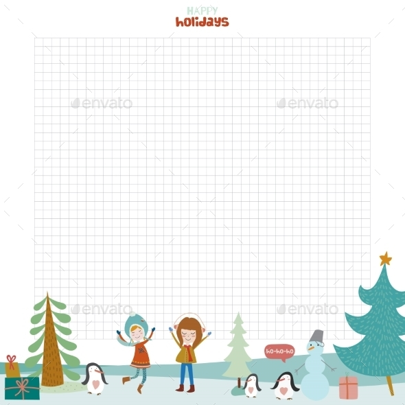 GraphicRiver Christmas Design For Notebook Diary Organizers 11904141