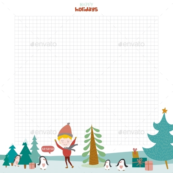 GraphicRiver Christmas Design For Notebook Diary Organizers 11904142